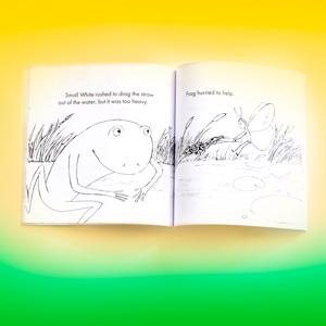frog book, coloring book, kids coloring book, chilren's coloring book, coloring book