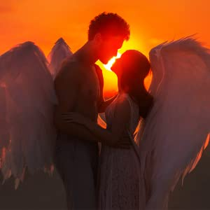 winged man and woman