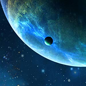 image of planet with moon