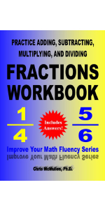 Picture of Practice Adding, Subtracting, Multiplying, and Dividing Fractions Workbook