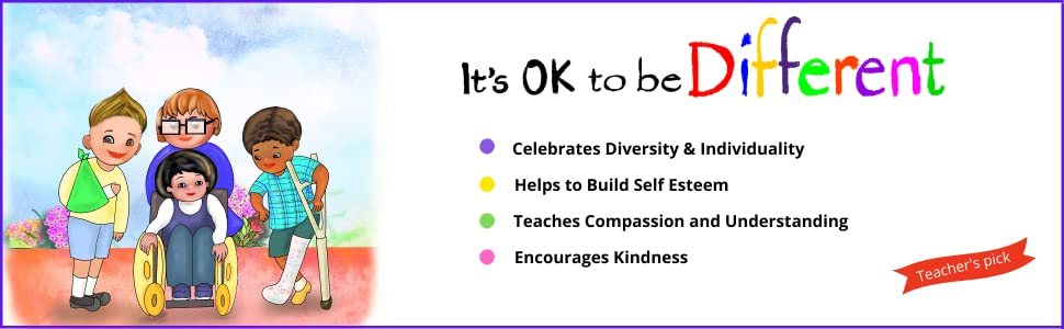 It's OK to be Different Book diversity kindness book for kids children compassion self esteem race