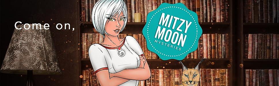 Mitzy Moon Mysteries main character and sidekick