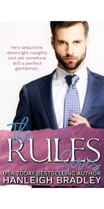 Woman in front on window. The Rules Series book cover. Author Hanleigh Bradley.