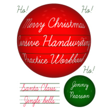 Picture of Merry Christmas Cursive Handwriting