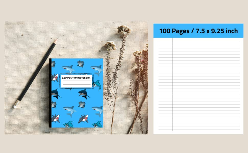 Shark Composition Notebook Cover