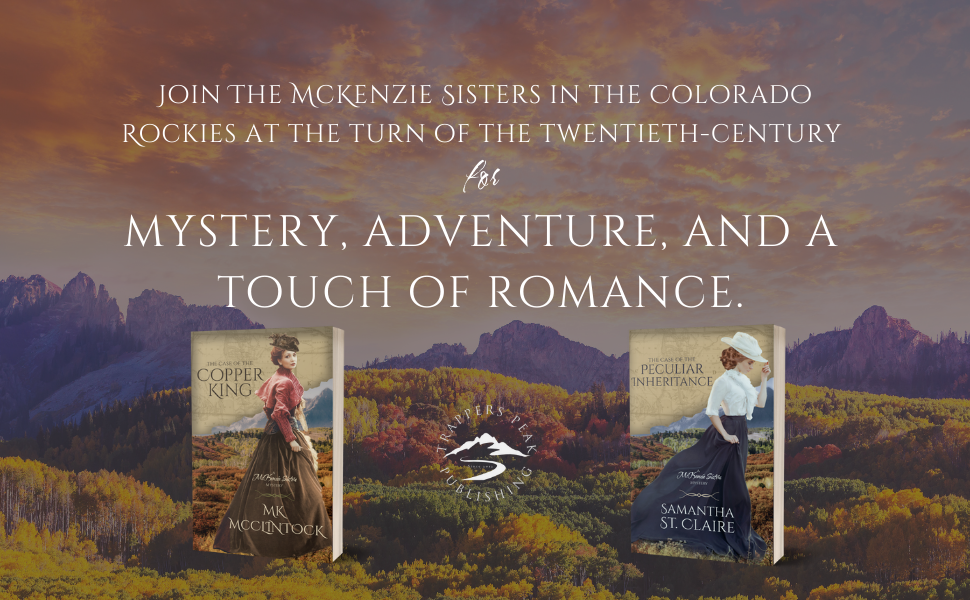 Mystery adventure and a touch of romance at the turn of the twentieth century in Colorado.