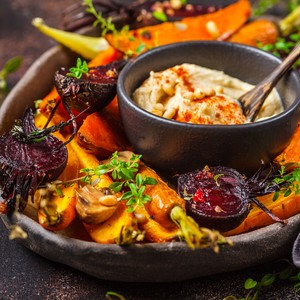 smoked vegetables carrot beet