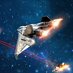 image of spaceships in battle