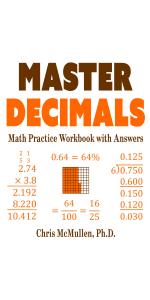 Picture of Master Decimals Math Practice Workbook