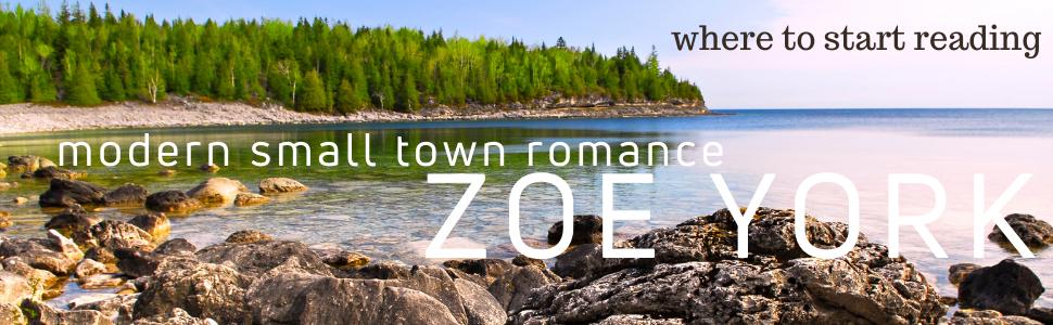where to start reading: modern small town romance, Zoe York