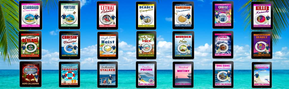 Millie's Cruise Ship Mystery Series by Author Hope Callaghan