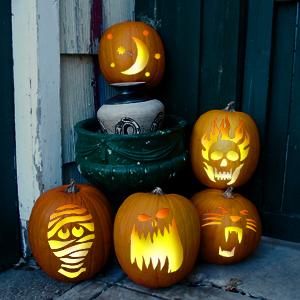 pumpkin on porch