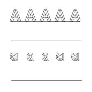 letter tracing example
