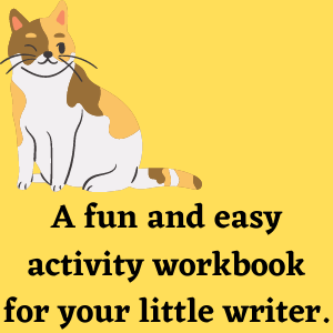 a fun and easy activity book for your little writer