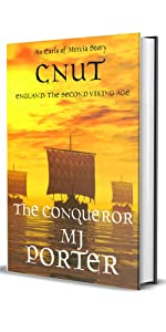 Cnut the Conqueror cover sowing a Viking ship on a yellow background
