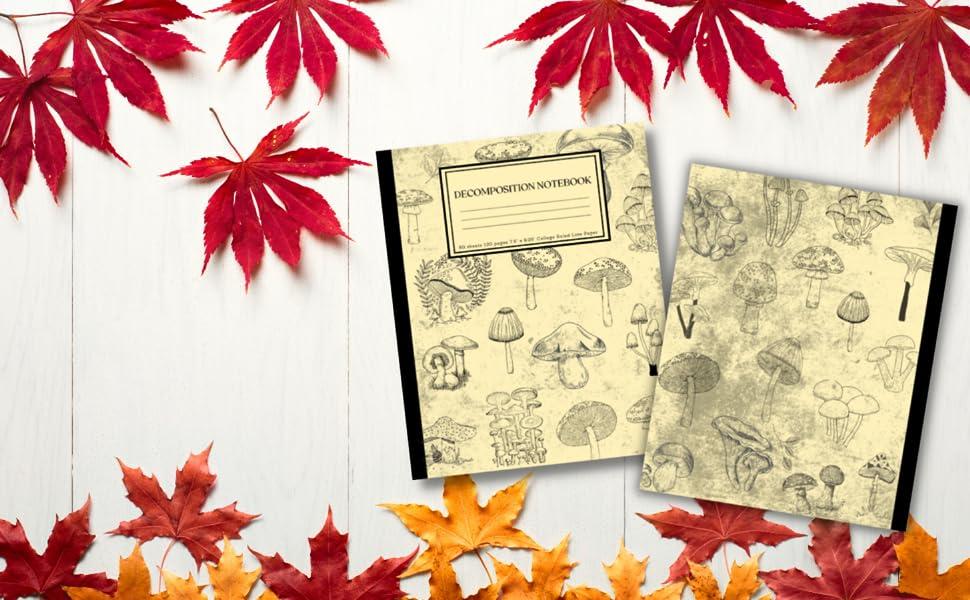 Decomposition Notebook Cottagecore Mushroom Fall Edition