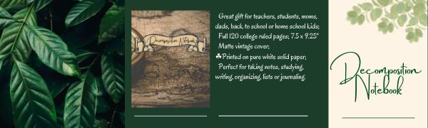 vintage decomposition notebook