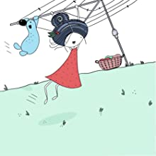 Joy is swinging in the washing line