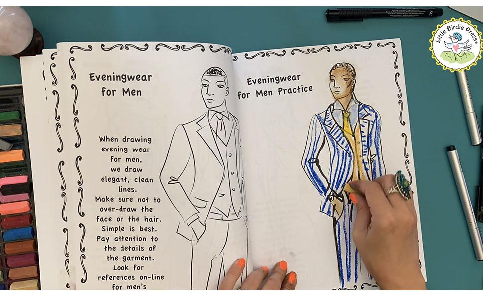 How to draw outfits, how to draw fashion, fashion illustration, fashion art tutorial , men's fashion