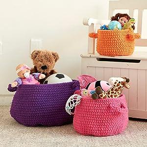 Bernat Spiderweb Crochet Blanket;Bernat Blanket Brights Yarn