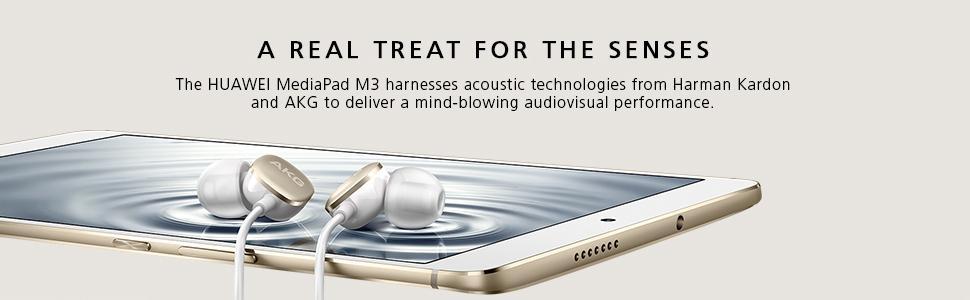 huawei mediapad m3, harmon, kardon, akg, headphones, hi-fi, high fidelity, high performance