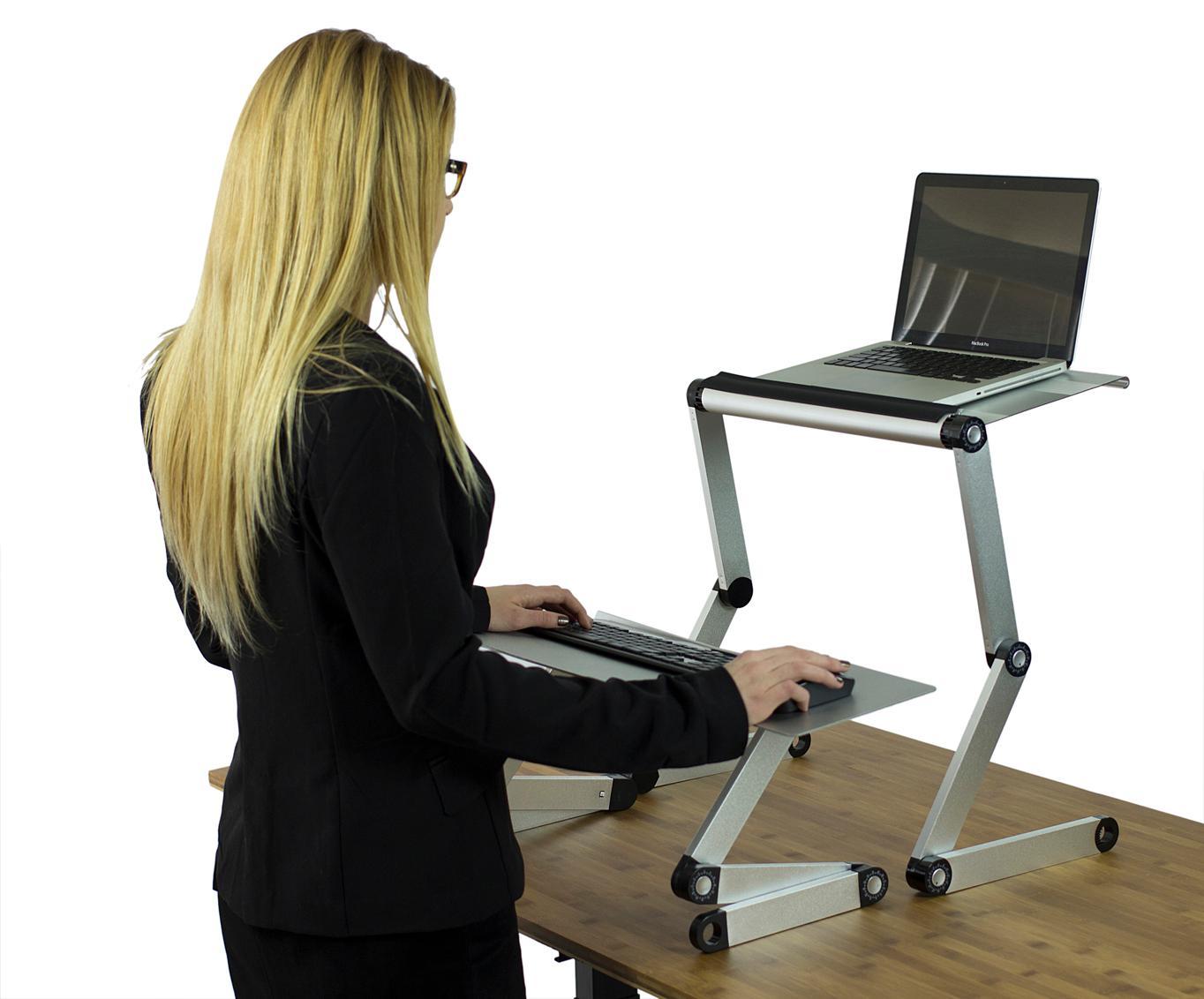 Workez Standing Desk Conversion Kit With 2 Fans Amp 3 Usb