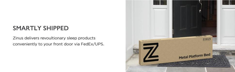 amazoncom zinus essential upholstered platform bed frame