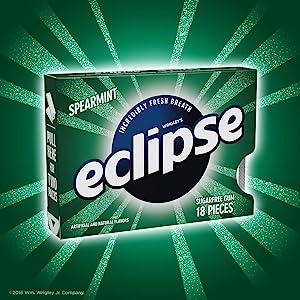 Split pack of Eclipse sugarfree chewing gum