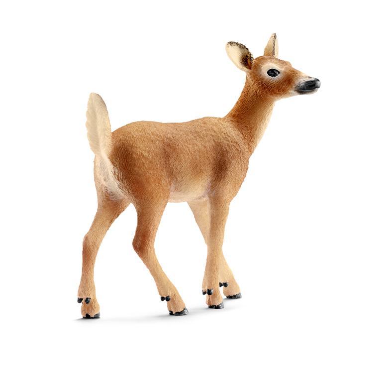 amazon com schleich 14710 white tailed doe toy figure multicolor