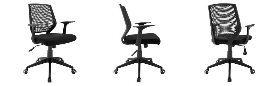 desks for small spaces modway entrada office chair black kitchen 13059