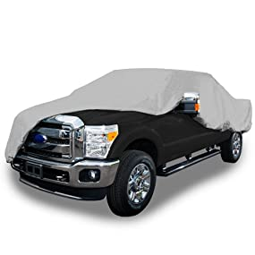 Polypropylene with Waterproof Film, Gray TRB-2X Budge Rain Barrier Truck Cover Fits Compact Extended Cab Pickups up to 210 inches