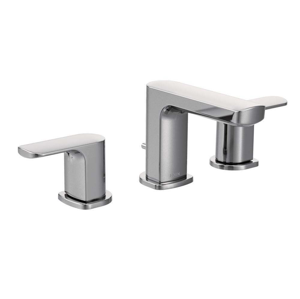 Moen Rizon Two-Handle Widespread Bathroom Faucet without Valve ...