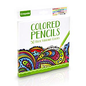 Crayola - Colored Pencils (50 count) - 3/4th View of Package