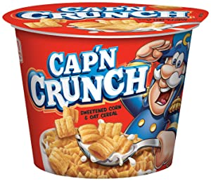 Cap'n Crunch cereal cup