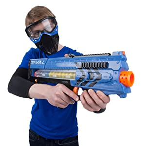 92995f0b Amazon.com: Nerf Rival Zeus MXV-1200 Blaster (Blue): Toys & Games