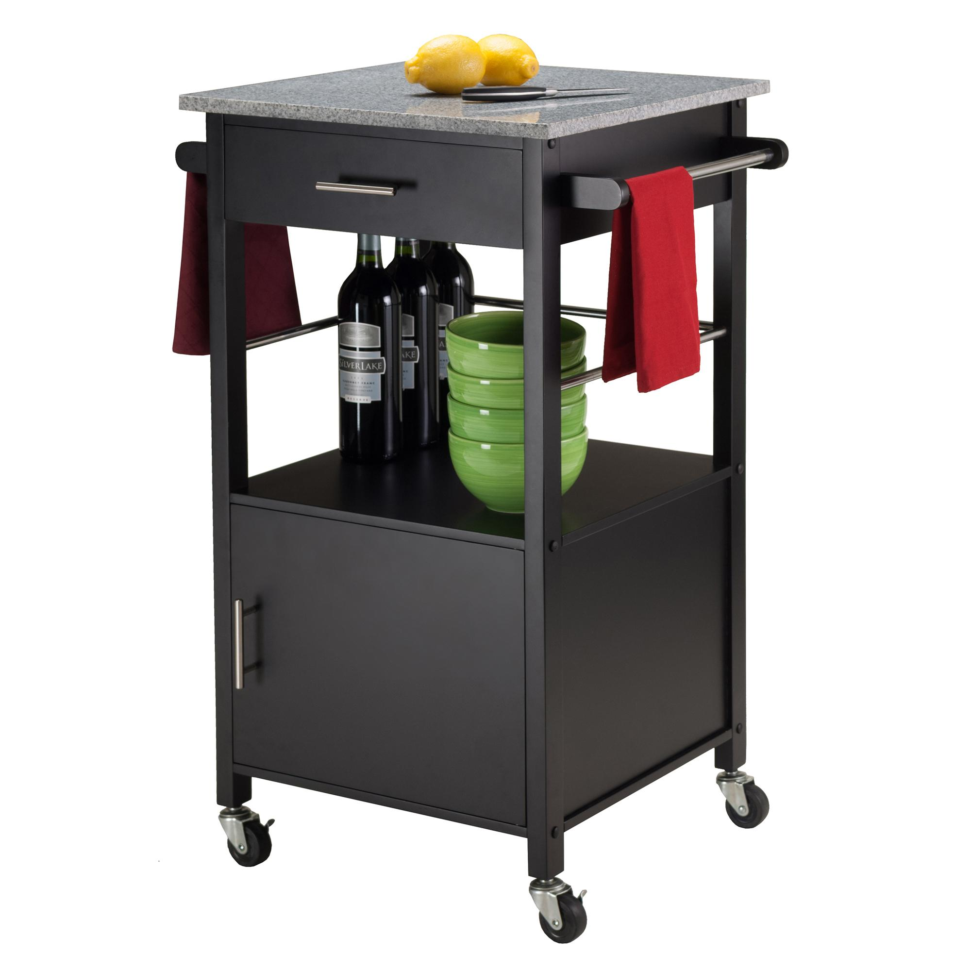 Winsome Wood Davenport Kitchen Cart with Granite Top, Black: Amazon on kitchen cart cabinets, kitchen cart with hutch, dresser granite top, kitchen cart drawers, kitchen cart shelf, home bar granite top, table granite top, kitchen cart black granite, kitchen cart with wine rack, cabinet granite top, kitchen cart with doors, kitchen cart vanity, breakfast bar granite top, sideboard granite top, kitchen cart with breakfast bar, kitchen cart with drop leaf, entertainment center granite top, kitchen cart rustic, kitchen cart island, buffet granite top,