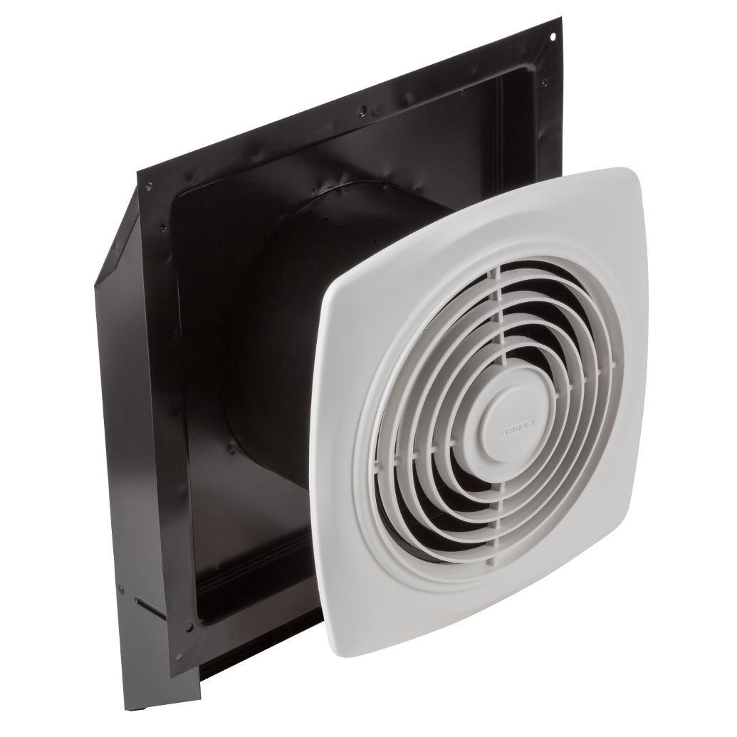 Broan 509 Through Wall Fan 180 Cfm 6 5 Sones White Square Plastic Grille Bathroom Fixture