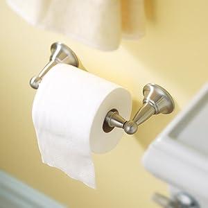Moen Toilet Paper Holder - Spring-Loaded Design for Easy Roll Changes