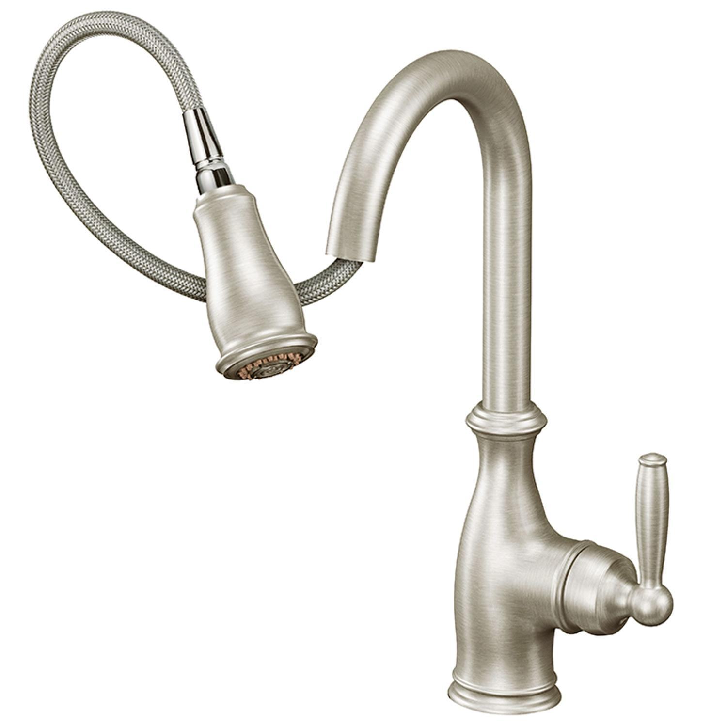 Moen 7185C Brantford e Handle High Arc Pull down Kitchen Faucet