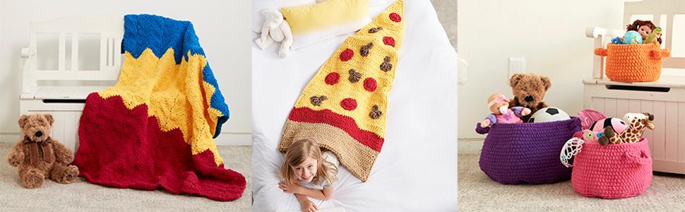 Bernat Blanket Brights;yarn;variety;multi use
