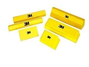 Juego de 6 bloques de lijado manual y abrazaderas 160 x 80 mm