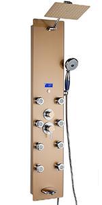 akdy, SP0050, shower panel, red, shower tower, bathroom,