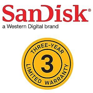 SanDisk 1 year warranty