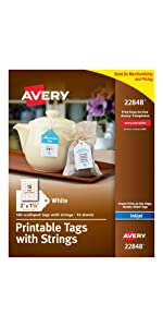 Avery printable scallop tags