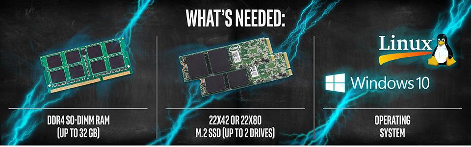 Intel NUC 6 Performance Kit (NUC6i7KYK) - Core i7, Add't Components Needed