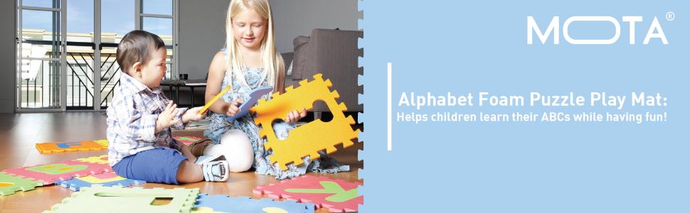 Amazon Com Mota Alphabet Abc Mat Eva Foam Anti Slip