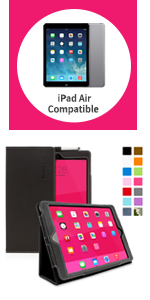 ipad air smart cover compatible case, ipad air case leather folio, ipad air case
