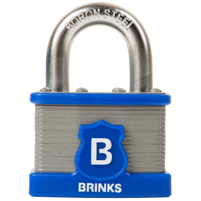 Amazon.com: Candado de acero laminado Comercial Brinks Home ...