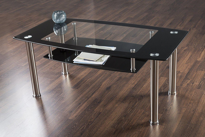 Amazon.com: AVF T32-A Black Glass & Chrome Square Side