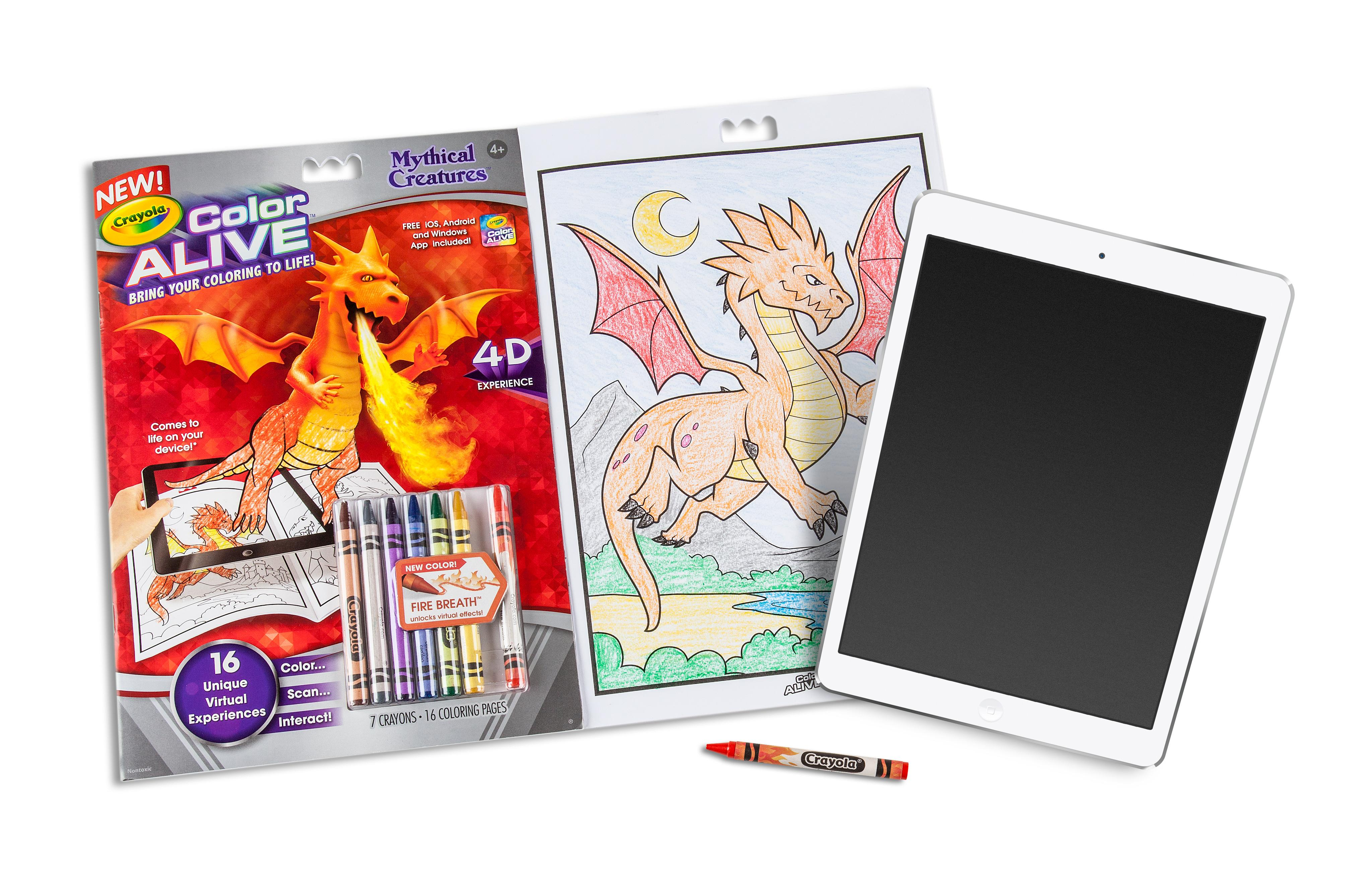 Crayola Color Alive Action Coloring Pages - Combo Set - Skylanders ...